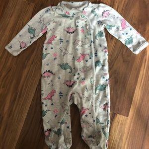 Carter's Dinosaur Print Baby Footed Pajama 6M